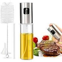 Nivlan Pulverizador Aceite, Pulverizador de Aceite Portátil Aceite con Acero Inoxidable de Primera Calidad y