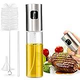 Nivlan Olio Spruzzatore, Bottiglia di Olio Spray per aceto Spray con Acciaio Inossidabile di Alta qualità e Vetro per Alimenti per Spruzzatore di Olio d'oliva per Cucinare, BBQ, Cucina, Insalata