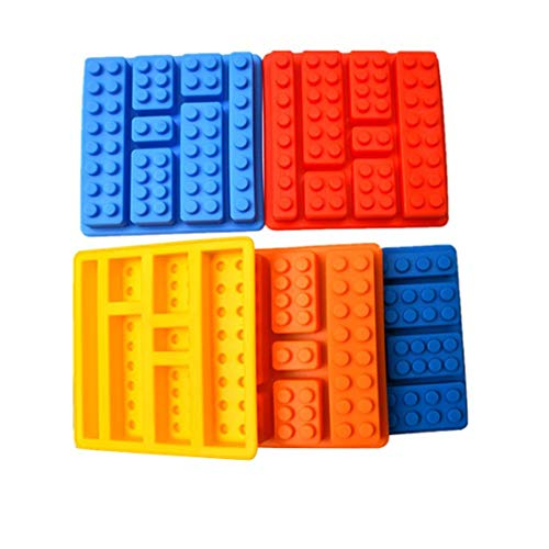 E-CHENG Building Blocks Shaped Silicone Ice Cube Tray