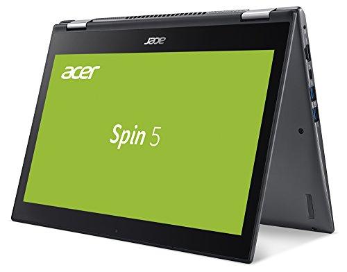 Acer Spin 5 (SP513-51-3466) 33,8 cm (13,3 Zoll Full HD IPS) Convertible Notebook (Intel Core i3-6100U, 4GB RAM, 128GB SSD, Intel HD Graphics, Win 10 Home) schwarz - 2
