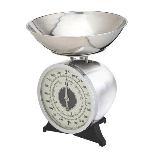Kitchen Craft Classic Collection - Bilancia meccanica da cucina, 2 kg