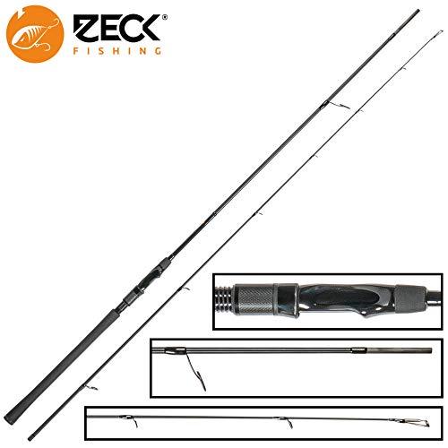 Zeck All Black Spinnrute 2,70m 50g - Jigrute zum Spinnfischen auf Zander, Angelrute zum Zanderangeln & Hechtangeln, Zanderrute