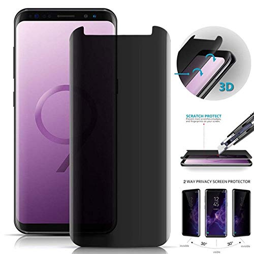 Privacy Screen Protector Guard (MiPao 3D Gebogen Gehärtetes Glas Für Samsung Galaxy S8 Schützen Privatsphäre Anti Spy Screen Protector Film Screen Guard)