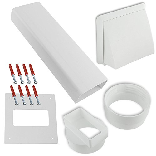 Spares2go PVC muro Vent-Kit per carenatura per Howdens sfiato asciugatrice, colore: bianco