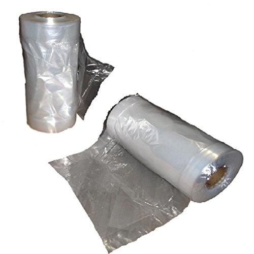 Borsa trasparente porta abiti in polietilene-Imballaggio per sacchetti da lavanderia per abiti, pantaloni, abiti, camicie, gonne, vestiti e giacche. rotolo completo, misura 100, Long 24 Inch