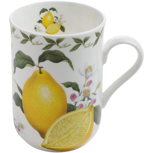 Maxwell & Williams PB8008 Orchard Fruits Becher, Kaffeebecher, Tasse, Motiv: Zitrone, in Geschenkbox, Porzellan