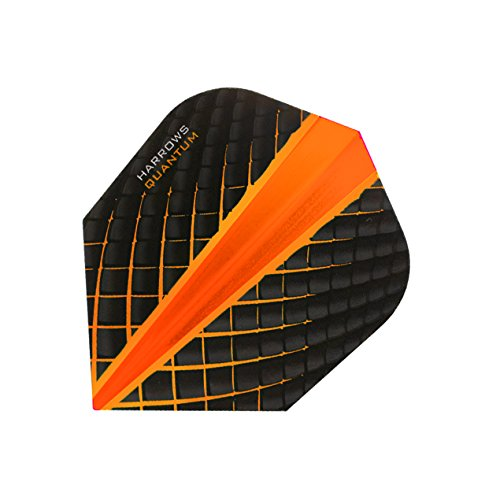 HARROWS Quantum Dart Flights 3D Effekt-100Mikron-Standard Form-Orange-5sets (15) - Standard Form 100