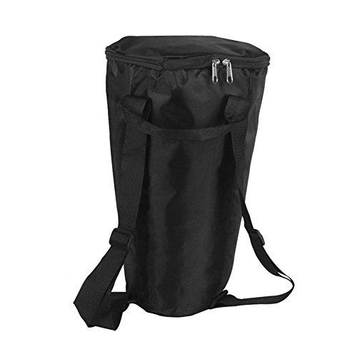Djembe Trommel Tasche Koffer Soft Gig Bag Rucksack, tragbare wasserdichte Schwarze Schulter afrikanischen Drum Tragetasche Schultertasche Musikinstrument Zubehör -