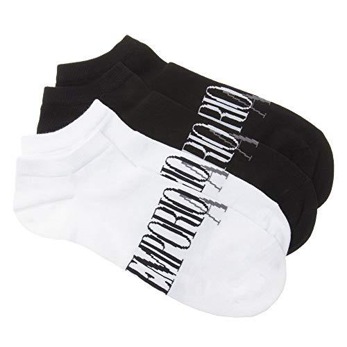 Emporio Armani 2 Pack Trainer Herren Socken Mehrfarbig