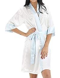 GODGETS Kimono Mujer Batas Camisón de la Boda para el camisón Nupcial de la Novia del