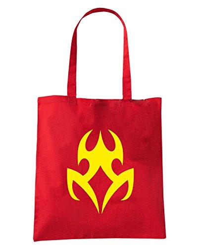 T-Shirtshock - Borsa Shopping FUN0449 2278 tribal sticker design 10 52392 Rosso