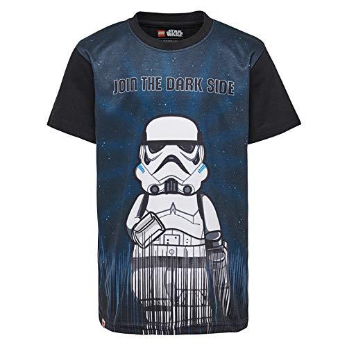 LEGO Jungen T-Shirt Lego Boy Star Wars CM-50215-T-SHIRT, Schwarz (Black 995), Herstellergröße: 122 - Für Wars Star Kids