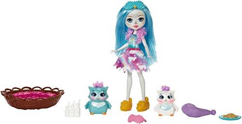 Mattel Enchantimals Sleepover Night Owl muñeca - muñecas (Multicolor, Femenino, Chica, 4 año(s), Búho, Mascota de muñeca)
