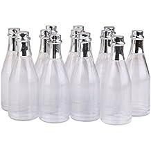 Semoic 12pzs Botellas de champana Caja Botellas de Caramelo Favores de Fiesta Ducha Claro