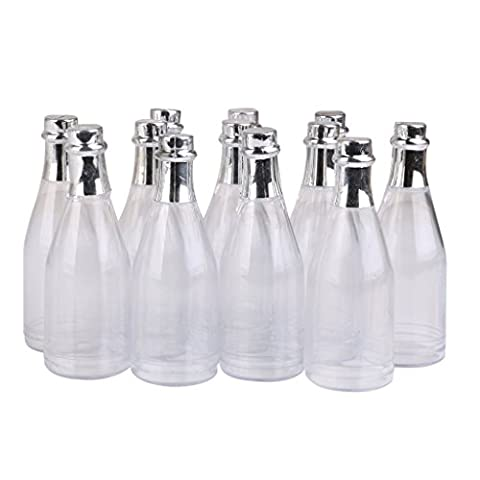 Foopp Plastic Baby Shower Party Favours Decoration Champagne Candy Bottles
