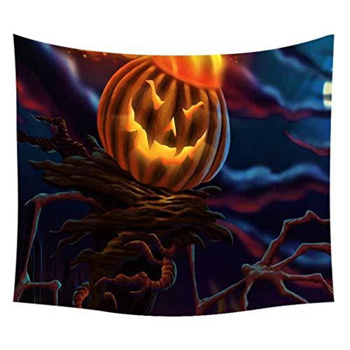 Halloween Horror Kürbis Schädel Tapisserie Dekor Wandbehang Spinne Hippie Psychedelic Wand Stoff Teppich Matte Tischdecke ()