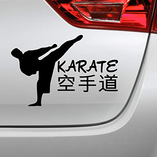 Karate Aufkleber Karatekämpfer Kampfsport Japan Autoaufkleber (Silber)