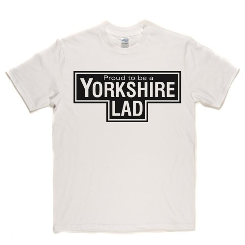 Yorkshire Lad UK England Proud Tee T-shirt Weiß