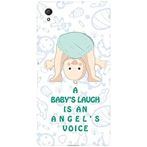 URBAN KOLOURS Original Designer Printed Hard Case Back Cover for Sony Xperia M4 Aqua (Baby's Laugh)