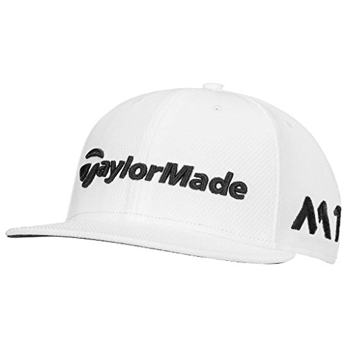 taylormade-2017-new-era-tour-9fifty-p5-flat-bill-hat-structured-mens-snapback-golf-cap-white