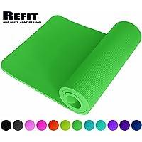 ReFit Fitnessmatte in 7 Farben   1.5 cm   rutschfest   gelenkschonend   EXTRA dick und weich   Maße 183 cm x 61 cm x 1.5 cm   mit praktischem Trageband