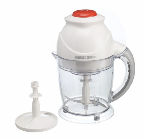 Black & Decker FX250 1L 400W Transparente, Color blanco picadora eléctrica de alimentos - Picadoras eléctricas de alimentos (1 L, Transparente, Blanco, De plástico, Acero inoxidable, 400 W, 1,4 kg)