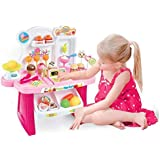MAGNIFICO® 34 Piece Mini Sweet Super Market Toy For Kids (Pink)