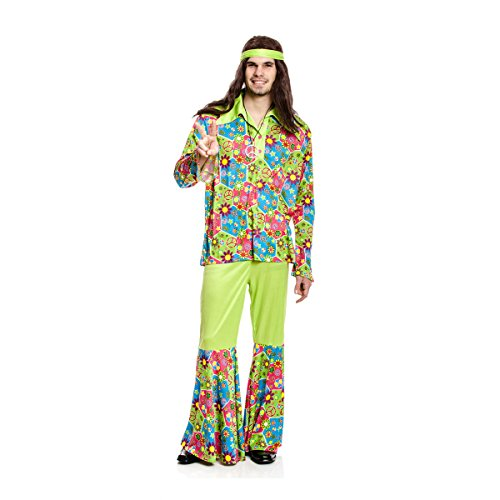ie-Kostüm Herren Flower-Power 60er Jahre Verkleidung Fasching Größe 64/66 (Lustige 60er-jahre-kostüme)