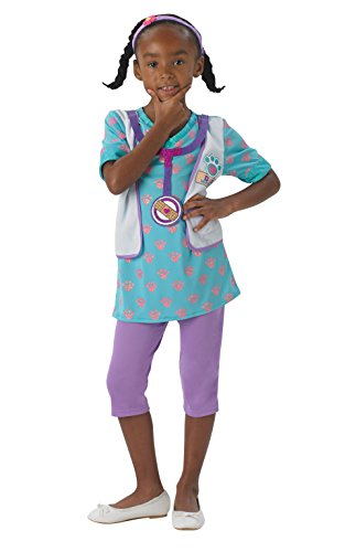 Rubie's Offizielles Doc McStuffin Mädchen Fancy Kleid Animal Pet Vet Doctor Kinder Kostüm - Doc Mcstuffins Dress Up Kostüm