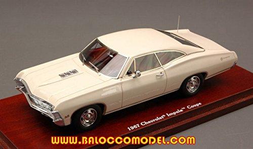 true-scale-miniatures-tsm134314-chevrolet-impala-coupe-1967-cream-143-die-cast