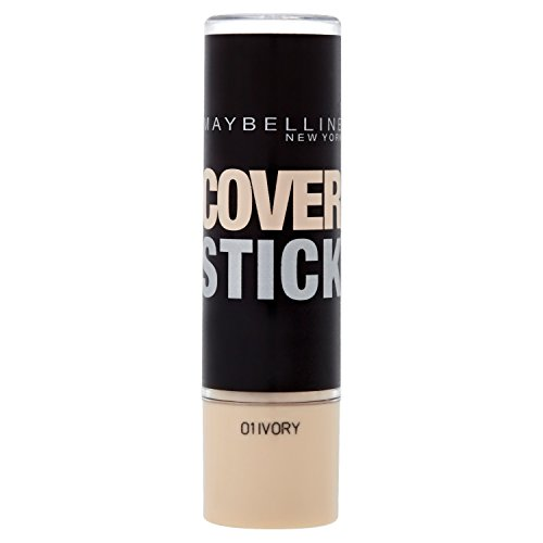 Maybelline - Cover stick, maquillaje corrector, color 01 marfil (5 ml)