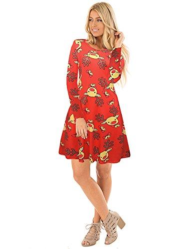 Vestito elegante da partito del vestito da partito di Ruiyige delle donne Rosso
