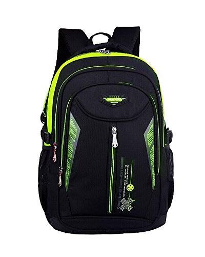 Imagen de  escolar impermeable  bolsa escolar casual  de colegio verde