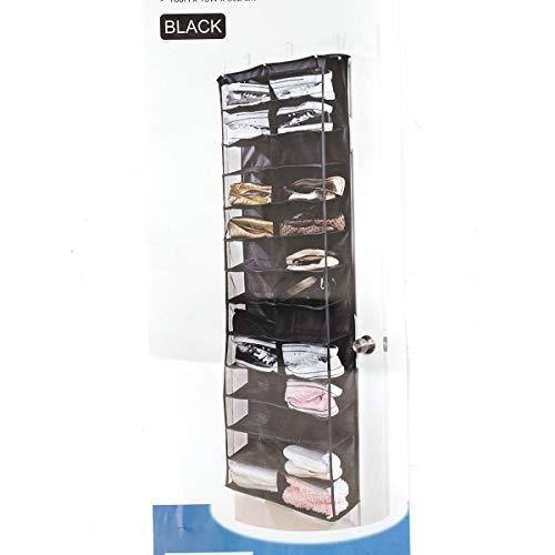 Schuh-präsentationsständer (Generic 26 Zwischenlagige Tür-Hängeregal Präsentationsständer Schuhaufbewahrung Organizer Tasche Schwarz)
