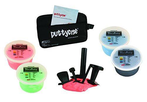 puttycise Handtrainer Putty Werkzeug-Sets mit Theraputty, 1 lb Kit, multi, 1 (Putty Kit)