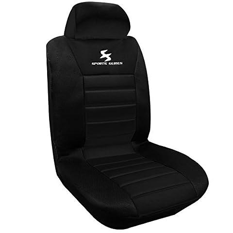 WOLTU housse de siège voiture universelle Auto housse Polyester housses pour siège,siège housse,couvre siège Noir(AS7254)