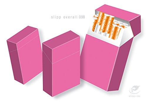 Zigarettenschachtel Cover Hülle Überzieher SLIPP OVERALL Pink BOX Komplettüberzieher mit Deckel (098 pink)