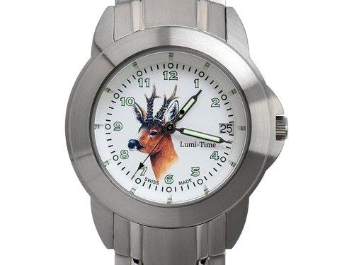 Greiner Lumitime Uhr Jagduhr Rehbock 2229-GS