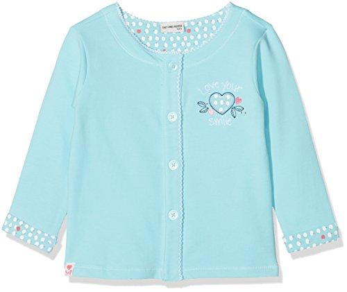 SALT AND PEPPER Baby-Mädchen Jacke B Jacket Love Geknöpft, Blau (Light Cyan 412), 86 cm
