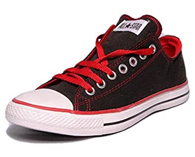 Converse Unisex 502821 Black & Red Canvas Casual Shoes - 12 UK