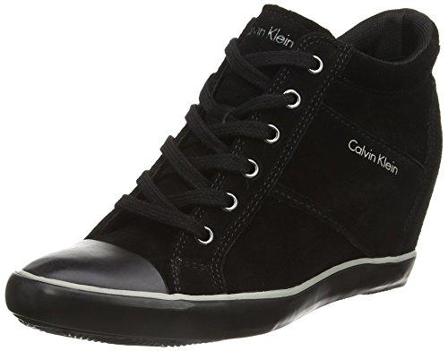 calvin-klein-voss-suede-zapatillas-altas-de-cuero-mujer-color-negro-talla-38