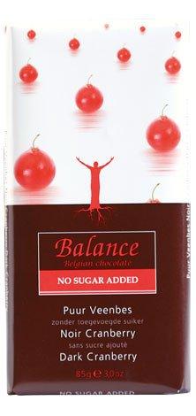 Balance No Added Sugar Dark Chocolate Bar with Cranberries 85 g