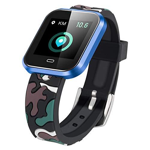 Wasserdichte Smartwatch, Schrittzähler Schlafüberwachung Alarm Benachrichtigung Push Leichte Pulsmesser Fitness-Monitor Touchscreen Bluetooth Stoppuhr Für Ios Android Phone,B