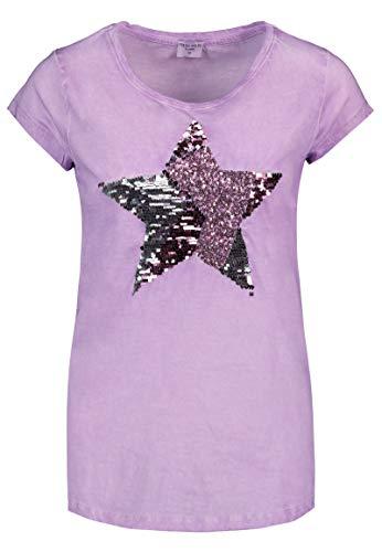 9ada44121c1720 Fresh Made Damen T-Shirt mit Pailletten-Stern | Vintage Washed Shirt in  Blau, Türkis & Lila Purple M