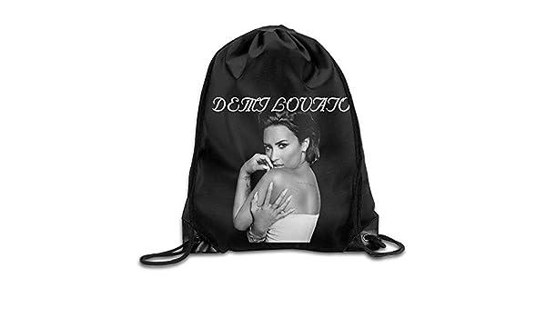 OQUYCZ Drawstring Backpack Bag Demi Singer Lovato