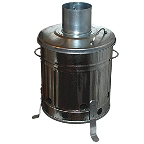 CrazyGadget® 15 Litre 15L Small Garden Galvanised Metal Incinerator Fire Burning Bin for Wood Paper Leaves