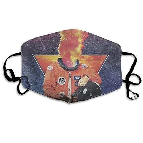 Vbnbvn Unisex Mundmaske,Wiederverwendbar Anti Staub Schutzhülle,Gesichtsmaske Apollo Anti Pollution Washable Reusable Mouth Masks for Man Woman