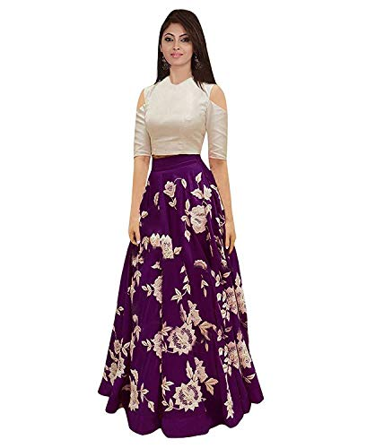 Yeoja Creation Women\'s Bangalory Silk Semi-Stitched Lehenga Choli