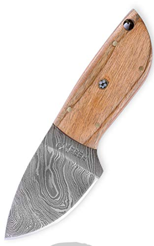 Custom Damast Messer Jagdmesser Mit Lederscheide - Kürschnermesser (Custom Messer)