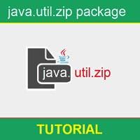 Learn Java.util.zip package